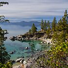 Lake Tahoe - Looking North from east Shore by David Galson