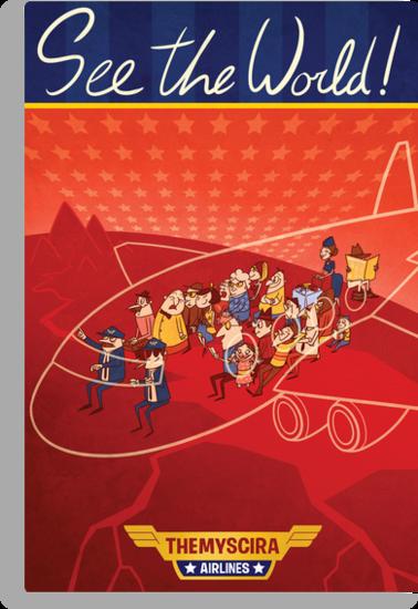 wonder woman airline poster by Ron Jensen