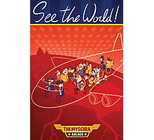 wonder woman airline poster Photographic Print