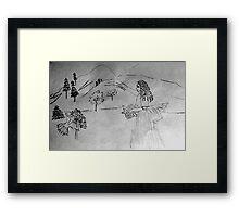 Pencil Sketch - The Arrival of Spring Framed Print