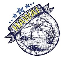 Hawai theme Hand draw illustration Photographic Print
