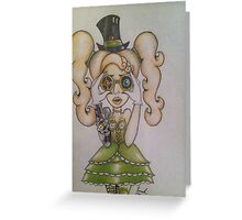 Steampunk Chick Greeting Card