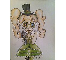 Steampunk Chick Photographic Print
