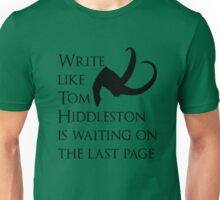 Tom Hiddleston Waits on the Last Page Unisex T-Shirt