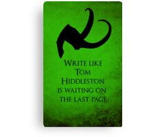 Tom Hiddleston Waits on the Last Page Canvas Print