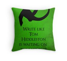 Tom Hiddleston Waits on the Last Page Throw Pillow