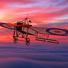 Royal Flying Corps Bleriot XI-2 in 1914-1916 by Dennis Melling
