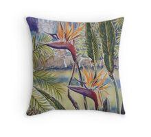 Strelitzia, Williamstown Botanic Gardens Throw Pillow