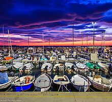 Stunning sunset in Livorno by Andrea Dani