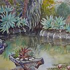 The pond, Williamstown Botanic Gardens by Virginia  Coghill