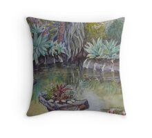 The pond, Williamstown Botanic Gardens Throw Pillow