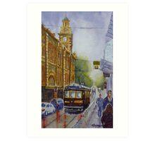 Flinders Street, Melbourne 2 Art Print