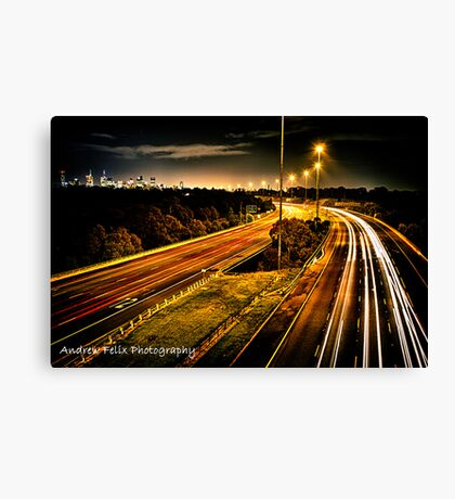 City Blood Line Canvas Print