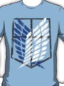 Attack On Titan - Survey Corps Logo (Blue Grunge) T-Shirt