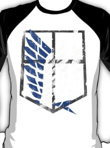 Attack On Titan - Survey Corps Logo (Blue Grunge) T-Shirt