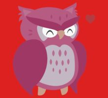 Little Pink Owl One Piece - Short Sleeve