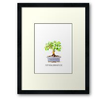 everything grows with love Framed Print