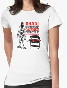 BRAAI SOUTH AFRICAN CAVE MAN Womens Fitted T-Shirt