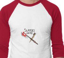 Slayer's Unite Crest (Buffy) V1 Men's Baseball ¾ T-Shirt