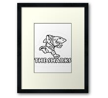 NATAL SHARKS FOR DARK SHIRTS SOUTH AFRICA RUGBY SUPER RUGBY  Framed Print