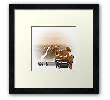 teddy with a chaingun Framed Print