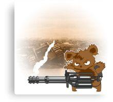 teddy with a chaingun Canvas Print