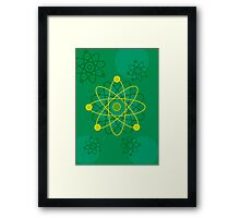 Modern Graphic Atomic Structure Framed Print