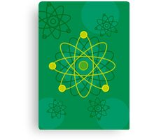 Modern Graphic Atomic Structure Canvas Print