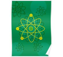 Modern Graphic Atomic Structure Poster