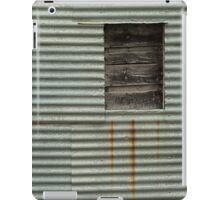 Corrugated metal and wood iPad Case/Skin