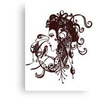 Tattoo Girl Canvas Print