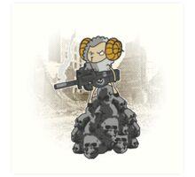 sheep with a machine gun Art Print