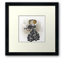 sheep with a machine gun Framed Print