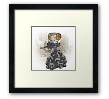 sheep with a machine gun Framed Print