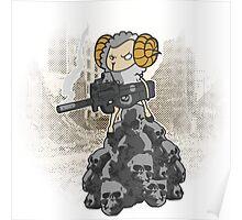 sheep with a machine gun Poster