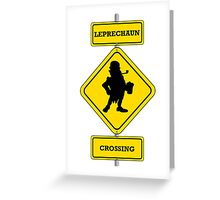 Leprechaun Crossing Greeting Card