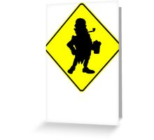 Leprechaun Crossing Sign Greeting Card