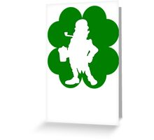 Leprechaun With Beer Shamrock Greeting Card