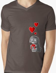 The Valentine Bunny Mens V-Neck T-Shirt
