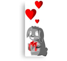 The Valentine Bunny Canvas Print