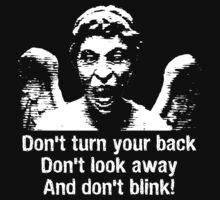 Weeping Angel, Don't Blink... Kids Tee