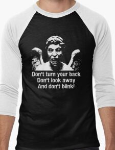 Weeping Angel, Don't Blink... Men's Baseball ¾ T-Shirt