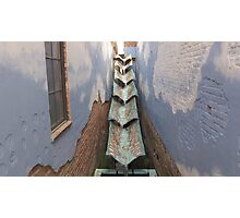 Rain Gutters in Greensboro Photographic Print