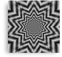 Optically Challenging Star in Black and White Canvas Print
