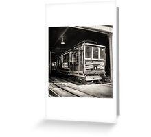 Vintage Streetcar Trolley 2014 Greeting Card