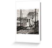 Vintage Streetcar Trolley 2022 Greeting Card