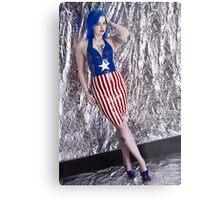 Captain America Latex Queen Metal Print