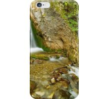 Waterfall on a mountain river iPhone Case/Skin
