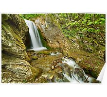 Waterfall on a mountain river Poster