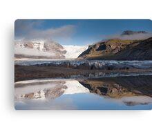 Svinafellsjokul glacier & lake Canvas Print